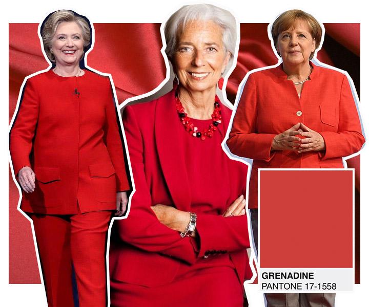 красный деловой костюм женский
